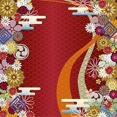 Japanese traditional background. Illustration vector.