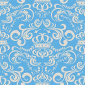 Abstract seamless blue pattern. Illustration vector.