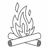 Bonfire Icon. Outline Illustration Of Bonfire Icon For Web poster