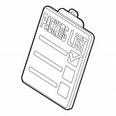 Packing List Icon. Outline Illustration Of Packing List Icon For Web poster