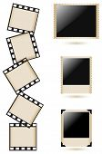 Old photo frames collection, vector illustration