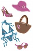 Woman apparel collection, vector illustration