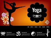Yoga website template, with oriental icons