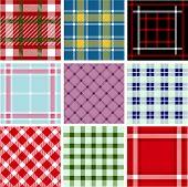 Set of plaid patterns