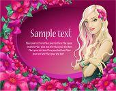 Background Girl pink (vector)