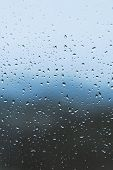 Rainy Day, Raindrops On The Window, Natural Background poster