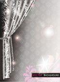 Elegant Curtain Background. EPS 10.