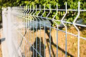 Grating Wire Industrial Fence Panels, Pvc Metal Fence Panel poster