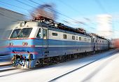 stock photo of loco  - Locomotive arriving to a station - JPG