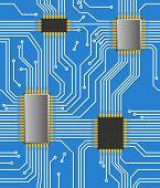 Seamless computer chipset background
