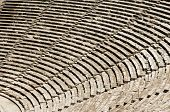 foto of epidavros  - Old theater in Epidaurus in Greece - JPG