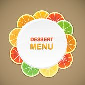 Dessert menu vector template. Ready for a text