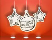 Vector Christmas illustration of christmas toys