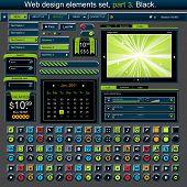 Web design elements set 3. Vector illustration