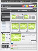 Web design elements set 1. Black and white. Vector illustration