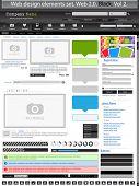 Web design elements black 2. Vector