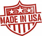 Made in USA Escudo Vintage impresión