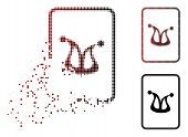 Joker Gaming Card Icon In Dispersed, Dotted Halftone And Undamaged Solid Versions. Pixels Are Organi poster