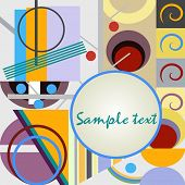 Abstract geometrical background in bright colors with space for text