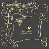 Floral frame linework