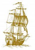 Vintage sailboat 2