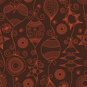 Cute Christmas seamless background