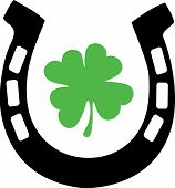 Good Luck Horseshoe And Shamrock