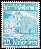 Postage stamp Venezuela 1958 Main Post Office, Caracas