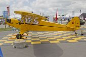 Piper Yellow Cub Airplane Side View
