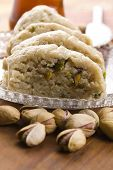 Homemade Halvah With Pistachio Nut