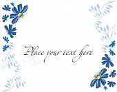 Background Or Frame With Wild Flowers