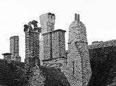 Bruges, chimneys