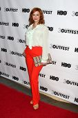 LOS ANGELES - JUL 22:  Christina Hendricks arrives agt the 2012 Outfest Closing Night Gala of