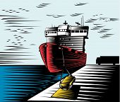 Ship On Dock