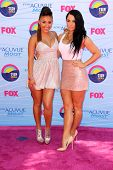 LOS ANGELES - JUL 22:  Francia Raisa, JoJo arriving at the 2012 Teen Choice Awards at Gibson Ampithe