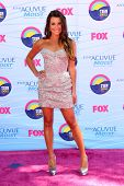 LOS ANGELES - JUL 22:  Lea Michele arriving at the 2012 Teen Choice Awards at Gibson Ampitheatre on