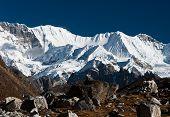 picture of cho-cho  - Mountain range in the vicinity of Cho oyu peak - JPG
