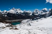 Peaks From Renjo Pass: Everest, Makalu, Lhotse, Cholatse