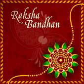 Illustration of a Rakhi for Raksha Bandhan festival. EPS 10.