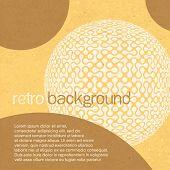 Retro abstrakt mit Platz für Text. Vektor, eps10