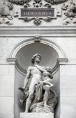 Burgtheater, Vienna, statue shows an allegory of heroism