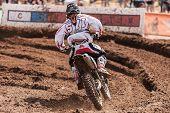 SEMIGORJE, RUSSIA - JULY 22: Unidentified rider at Grand Prix of Russia of FIM Motocross World Champ
