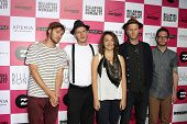 LOS ANGELES - JULY 25: The Lumineers at Billabong's 6th Annual Design For Humanity Event at Paramoun
