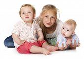 groep van kinderen, de kleine jongen en meisjes