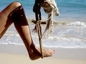 Leg In Rope Swing