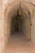 Castle In Medieval Tuscan Style Interior Corridor