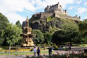 Edinburgh Castle From West Princes Street Gardens