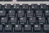 Close-Up do teclado de computador com botões bebê