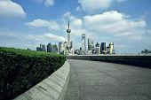 Shanghai bund landmark skyline landscape poster