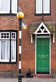 Typical English town house door